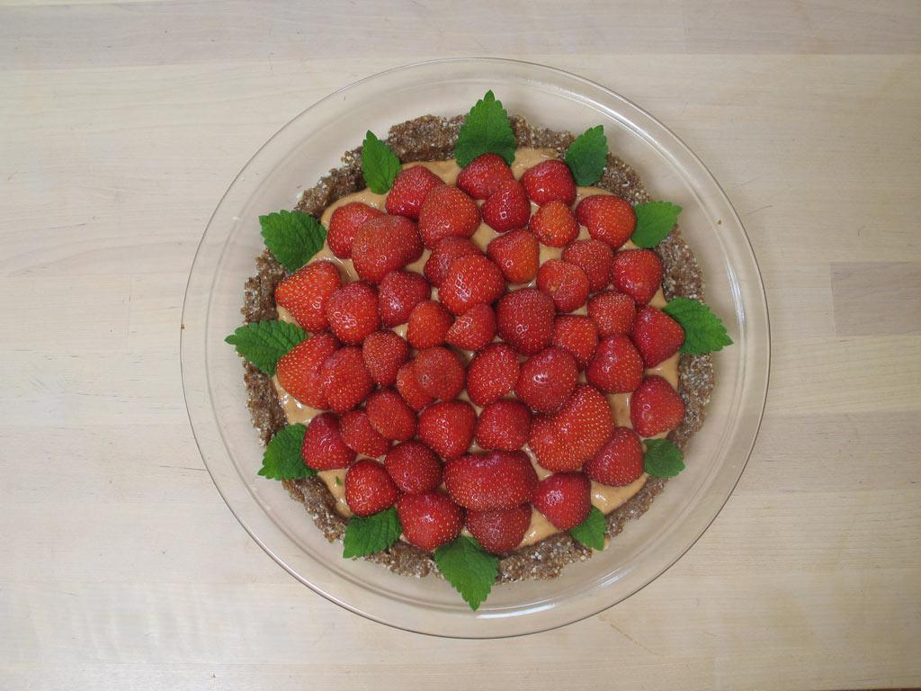 Erdbeertarte mit Aprikosenmandelcreme
